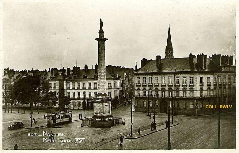 Nantes place Louis XVI ( ou Maréchal Foch) - édition la Cigogne ...